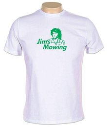 JIMS MOWING T-SHIRT funny the doors jim morrison funny cool retro MENS NEW in Offerta