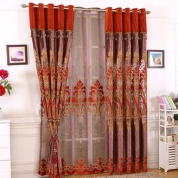 $enCountryForm.capitalKeyWord NZ - Curtain fabric high shading European elegant curtain screen bedroom living room water soluble embroidered curtain fabric