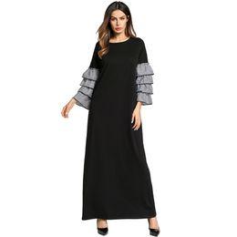 Plus Size Night Dress Long Sleeve Ruffles Middle East Abaya Casual Homewear  Dress Sleepwear Dresses Maxi Dress Muslim Abaya Gown f47c0045a