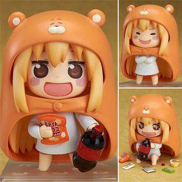 Japanese anime girl figures online shopping - 10cm Japanese Anime Himouto Figure U M R Cute Nendoroid Doma Umaru PVC Action figure Model Toy