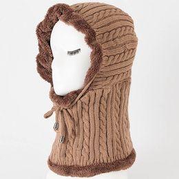 Chinese  1 Pcs Women Men Knitting Cap Hat Neck Ear Warm Elasticity Windproof For Winter Outdoor Best Sale-WT manufacturers