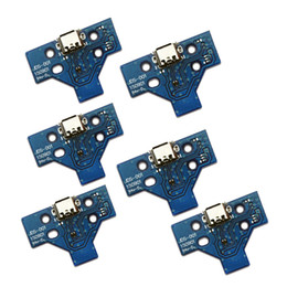 Ps4 Blue Canada - DHL TNT Free shipping Brand new 14 pin for PS4 Controller USB charger PCB board blue JDS-001