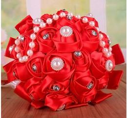 Hochzeit Handblumen, Perle Satin Tuch, Wasserbohrer, Hand gewebt. Hochzeitsfotografie Blumenstrauß, verschiedene Stile, Fabrik Direktverkauf