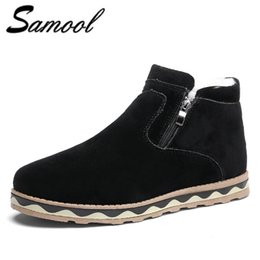 Outdoor Boots Zipper Australia - 2018 Winter Snow Boots for Men's Winter Fashion Zipper Solid High Quality Plus Velvet Keep Warm Flats Outdoor Ankle Boots XX4