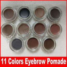 11 renkler Kaş pomad krem Su Geçirmez kaş Artırıcılar Creme Makyaj perakende kutusu ile DHL ücretsiz Tam Boyut