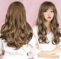 Chinese Bang Human Hair Wigs Australia - Chinese style does not hurt the scalp black yellow brown short curly hair straight all bang give deserve to act the Human Hair Capless Wigs