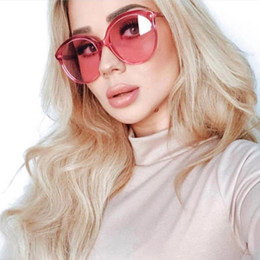 Mirror Tint Sunglasses NZ - Fashion Clear Sunglasses Women 2018 Retro Oversized Rose Pink Sun Glasses Brand Designer Round Tinted Shades Transparent Oculos