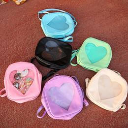 good quality girls school bags 2019 - Summer Candy Transparent Love Heart Shape Backpacks Harajuku School Backpack Shoulder Bags For Teenager Girls Book bag 6
