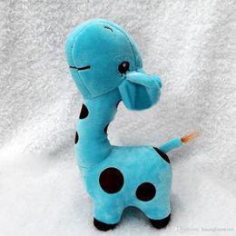$enCountryForm.capitalKeyWord NZ - Wholesale-Baby Kids Cute Giraffe Deer Plush Doll Toy Children Colorful Fun Gift Soft Plush Giraffe Doll