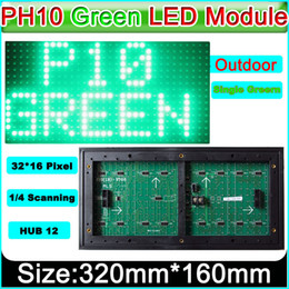 Electronics Signs UK - P10 Green color outdoor LED display module, P10 led signs green Panel, electronic moving text