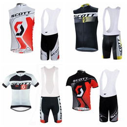 Scott Bikes Canada - SCOTT Summer Cycling Jerseys Ropa Ciclismo Breathable Bike Clothing Quick-Dry Bicycle Sportwear Ropa Ciclismo GELPad Bike Bib shorts E60505