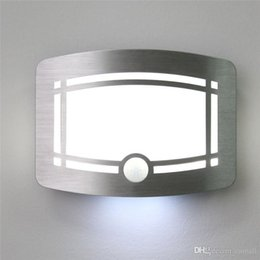 Motion Sensor Activated LED Wall Light Sconce Wall Night Light Battery Powered Hallway Staircase Indoor L& & Battery Wall Sconce Light NZ | Buy New Battery Wall Sconce Light ...