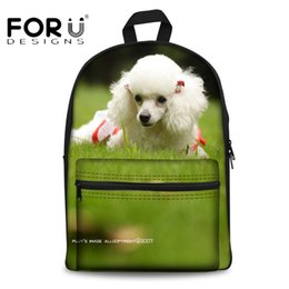 back packs teenager Australia - FORUDESIGNS 3D Animal Dog Pattern Women Canvas Backpacks for Teenager Girls Casual Travel Bagpack Kids Book Back Pack Mochila
