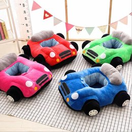 Cotton Print Material NZ - Baby Seats Sofa Baby Cartoon Animal Chair Baby Toys Car Sofa Without Cotton Filling Material DIY Sewing Without Zipper