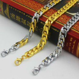 jewelry thick necklace 2019 - Recommend Miami Cuban Chains For Men Hip Hop Jewelry Wholesale Gold Color Thick Stainless Steel Long Big Chunky Necklace
