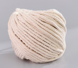 Hangers Diy NZ - 3mm 4mm 5mm Natural Cotton Cord Rope, DIY Macrame Cord Wall Hanging Plant Hanger Craft Making Knitting Rope Home Decoration