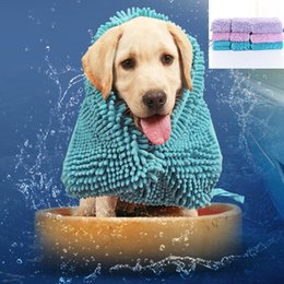 Pet Towels NZ - Pet Drying Towel Soft Drying Bath Pet Towel For Dog Cat Hoodies Puppy Super Absorbent Bathrobes Cleaning Bath Necessary
