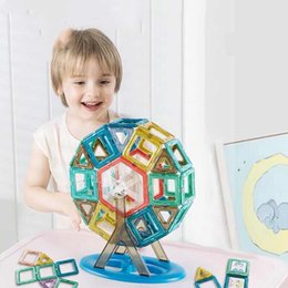 magnetic toy building blocks Canada - Magnetic piece building blocks children's educational toys magnet magnet magnet more than three years old boys and girls