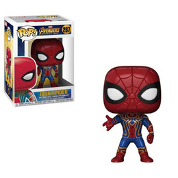 Mini Figures Superman UK - New arrival xmas gift Funko PopIron Spiderman & superman Vinyl Action Figure With Box Gift Toy Good Quality