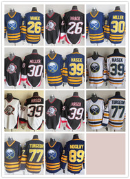 874349f6b CCM Newest Men Stitched Buffalo Sabres  26 VANEK  30 MILLER  39 HASEK  77  TURGEON  89 MOGILNY White Blue Black CCM Ice Hockey Jerseys