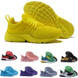 b1f23356e515 2019 New PRESTO BR QS Breathe Yellow Black White Mens prestos Shoes Sneakers  Women