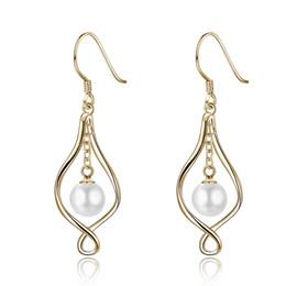 $enCountryForm.capitalKeyWord UK - Gold S925 Sterling Silver Earrings Luxury Pearl Ear Hook Famous Brand POTALA008 Jewelry Finding Fashionable stud earrings Girlfriends gifts