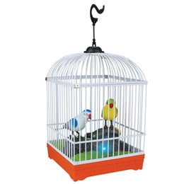 Battery Operated Electronic Bird In Cage Lovely Sound Activated Heartful Bird Xmas Gift Kid Toy