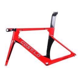2018 Costelo AEROMACHINE монокок углеродного волокна дорожный велосипед рама велосипед bicicleta рама велосипед рама 50 52 54 56