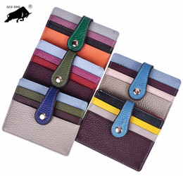 Classic Leather Bags For Men Canada - New Series Mens Fashion Classic Design Casual Credit Card Holder Hiqh Quality Leather Ultra Slim Wallet Packet Bag For men women