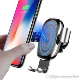 Araç Montaj Qi Kablosuz Şarj Için iPhone X 8 Artı Hızlı Şarj Samsung S9 S8 Için Hızlı Kablosuz Şarj Araba Tutucu Standı