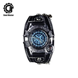 Discount watches anime - 2018 New Arrival Antique Steampunk Fashion Personality Anime Quartz Bracelet Watch Fits For Both Children Adult WristWat