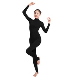Frank Women Dance Unitard Dancewear Lycra Spandex One Piece Tank Full Length Unitard Adult Jumpsuit Costumes Zentai Stage & Dance Wear Ballet