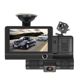 Wide Angle Dvr NZ - Mini 4.0'' IPS screen car dvr with three cameras 140 degree HD wide angle support Night vision With retail box
