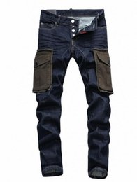 $enCountryForm.capitalKeyWord Canada - 2018 europe and the united states fashion new trend big pocket men's jeans washed hand-painted folds washed low-waisted feet trousers pocket