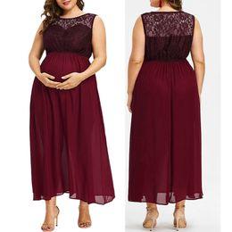 ae86bdd76bd01 Pregnant Maternity Dress Summer Sleeveless Nursing Lace Chiffon Dresses  Photography Props Pregnancy Dress Plus Size 5XL