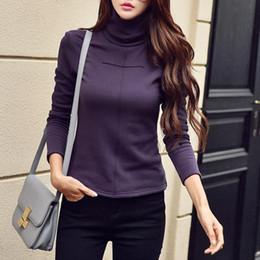 48d81918363 Women T Shirt 2018 Autumn Winter Korean Style Long Sleeve T-Shirts Women  Tops Casual Turtleneck Slim Tees Shirt Ladies WS9745S