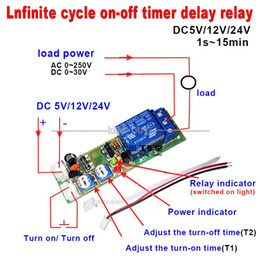 phone off switch NZ - Freeshipping DC 5v 15 minutes adjust Infinite Cycle Delay Timing Timer Relay ON OFF Switch Loop Module