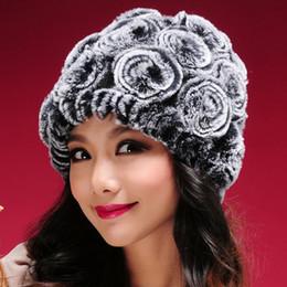 Discount real rabbit fur hats - Hot Sale Winter Fur Hats Women Natural Rex Rabbit Fur Caps Wholesale Retail Real Rex Rabbit Beanies Hats Winter