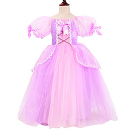 $enCountryForm.capitalKeyWord NZ - Girls Rapunzel Princess Dress Up Cosplay Costume Kids Puff Sleeve 6 Layers Tangled Party Dresses For Christmas Halloween Ball Gown HH7-1430