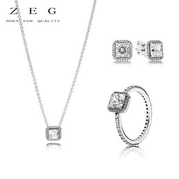 grace earrings 2019 - ZEG High Quality 100% Sliver Official Copy Pan & Eternal Grace Necklace Ring Have Logo Women Fashion Jewerly Free Mail d