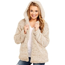 Women Designer Winter Coats Hooded Top Plush Warm Casual Long Sleeve Fashion Plus Size Loose Casual Clothes