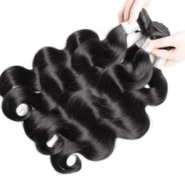 Dyeing Hair Black Australia - Best-Selling Brazilian Hair Body Waves 1B Natural color Black Body Wave Hair Weaves Soft Can Be Dyed Human Hair Weave Bundles