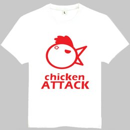 263f7c7b Chicken attack t shirt Fun sing short sleeve gown Song tees Leisure clothing  Quality cotton fabric Tshirt