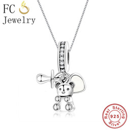 Discount nipple chains - FC Jewelry 925 Sterling Silver Bear Baby Treasure Nipple Pacifier Heart Pendant Necklace For Women Chain Choker Trinket