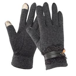 221998f8f41a Fall Winter Warm Women Gloves Touching Screen Wrist Gloves Mittens Female  Cotton Full Finger Driving Warm