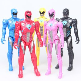 made toys china 2019 - 5PCS set Power Ranger birthday Gifts Doll Toys Power Ranger with The joint can move the toy made in china discount made