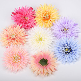 Centerpieces Fake Flowers UK - Wholesales 7 Colors Fake Flowers Silk Floral Head Wedding Decoration Home Decor Real Touch Artificial Plants Centerpieces Flower Wall