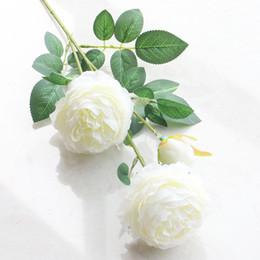 Silk Stems NZ - white rose artificial silk flower rose wed decoration pergola bouquet flower with tall stem