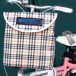 Wholesale Bicycle Basket Bag Waterproof Bicycle Basket With Cover Thickened Canvas Folding Basket Accessories Pendant Multi color