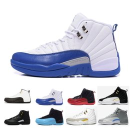 06bb3d9d6bac Wholesale 12 mens Basketball Shoes French Blue 130690-113 Wolf Grey Flu Game  Black Red OVO White 12s VII Sports Sneakers